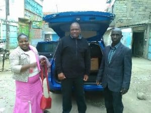 Pastor's wife Gladys, Pastor Zaphania and Patrick